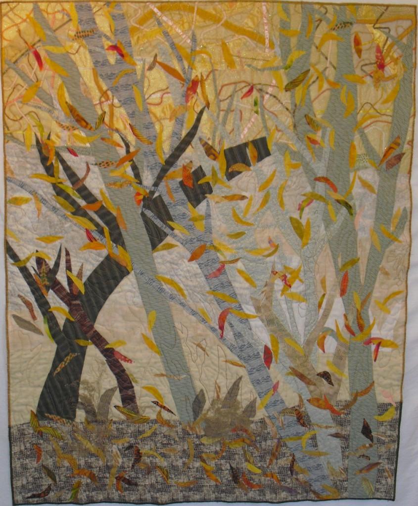 """Birch Trees in Autumn 39"""" x 31"""", 2011"""